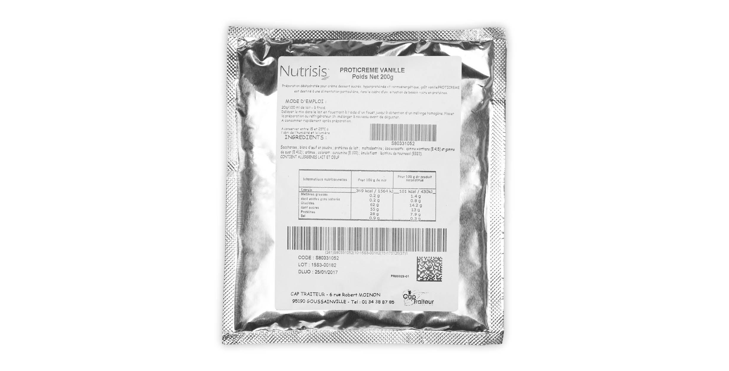 Proticrème Vanille (zakje 200 g)