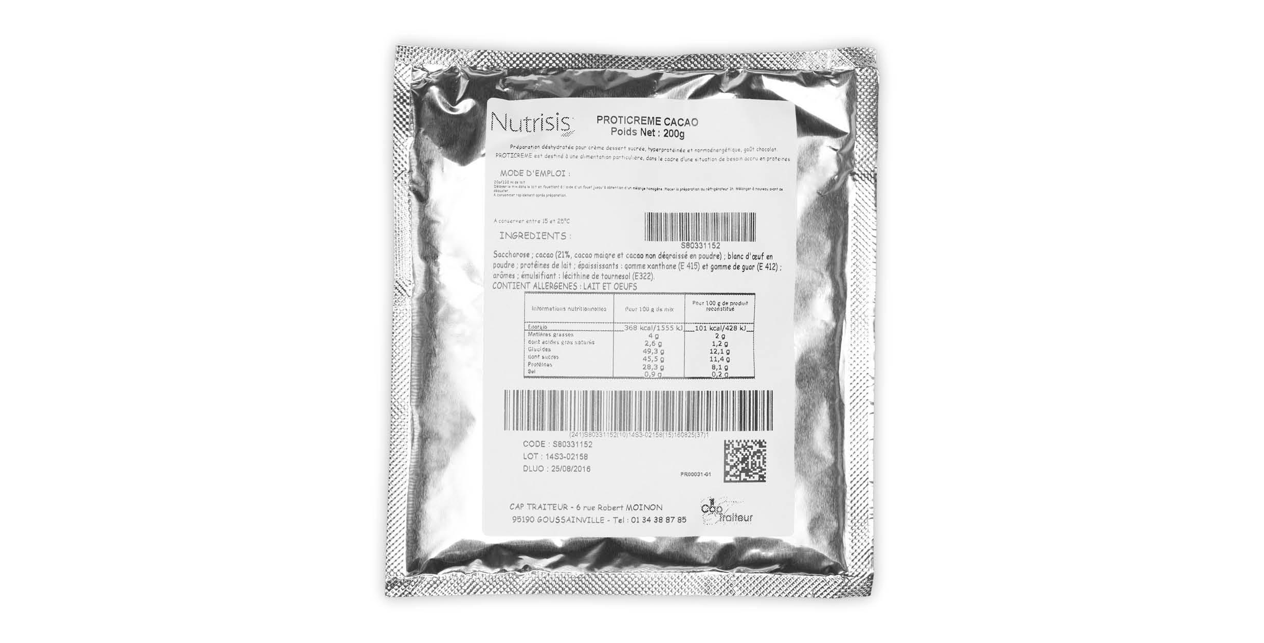 Proticrème Cacao (zakje 200 g)