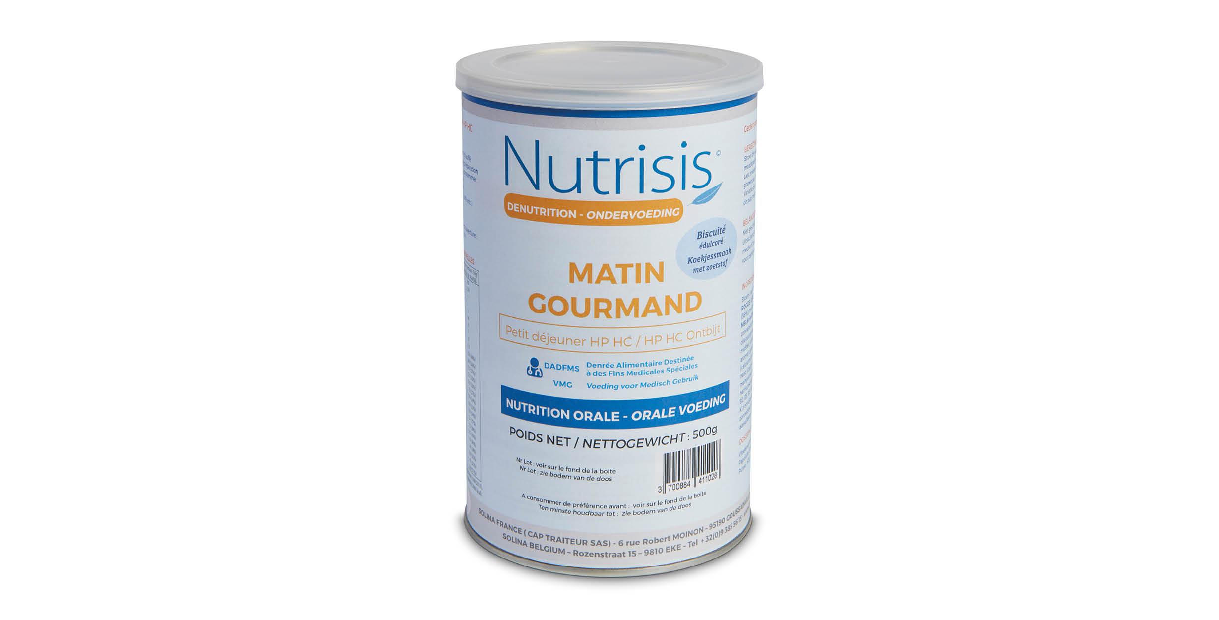 Matin gourmand koekjessmaak gezoet NF (bus 500 g)
